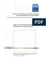 RARE CSR Survey - Banking Sector
