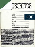 Revista Manuscritos, ed. Ronald Kay