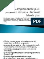 5 Implementacija E-poslovnih Sistema