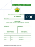 Manual de Usuario PM-049 Notificación, Liquidación y Cierre de Ordenes