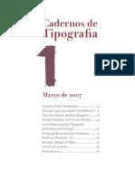 Cadernos de Tipografia 1, 2007