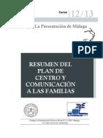 Plan de Centro y Comunicación a las Familias 2012/13