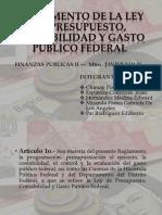 Reglamento de La Ley de Presupuesto, Contabilidad (2)