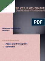 Prinsip Kerja Generator