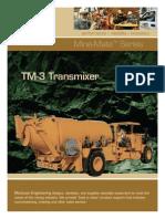 Stm Equipo de Transporte y Proyeccion de Shotcrete Equipo de Transporte y Proyeccion de Shotcrete Tm 3 Transmixer Ingles 553069[1]