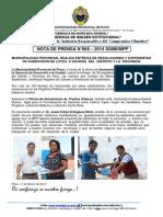 068 - Municipalidad Provincial Realiza Entrega de Resoluciones y Expedientes de Subdivision de Lotes, A Vecinos Del Distrito y La Provincia