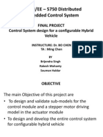 Control System Design for a Configurable Hybrid Vehicle