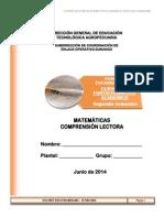 2º Sem - Examen Estandarizado Fortalecimiento Académico-Junio'14