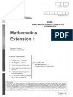 Maths Ext. 2006 Trial & Solutions