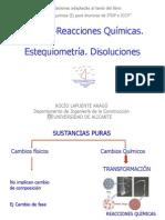 Tema 2.- Reacciones Químicas. Estequiometria y Disoluciones
