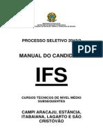 Manual Subsequente Campus Aracaju_itabaiana_estancia_lagarto_sao-cristovao 2012 2_edital 39 2012