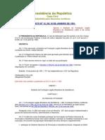 Legislação Referente à Legião Brasileira de Assistência (LBA) 1