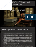 Prescription of Crimes and Penalties