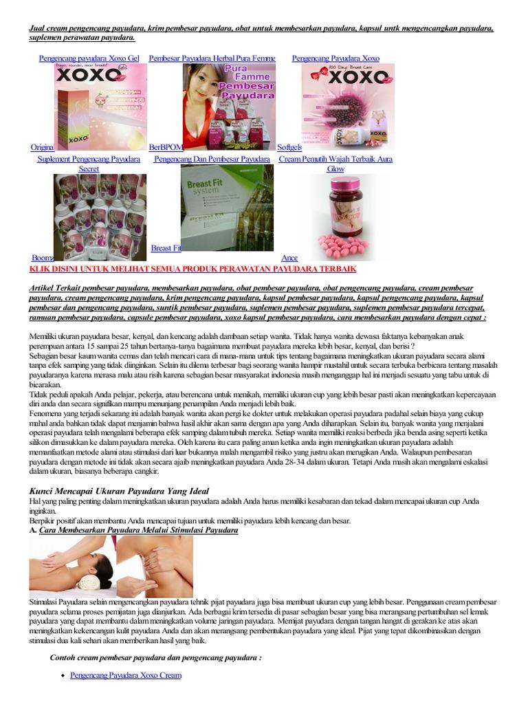 Cara Membesarkan Payudara Cream Pengencang Dan Pembesar Dr Susan