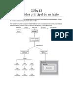 Guc3ada 13 Tema e Idea Principal de Un Texto