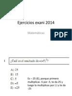 Ejercicios Exani 2014 Con Respuestas