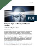 8 Ways to Begin Awakening Your Psychic Abilities