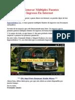 Cómo Generar Múltiples Fuentes De Ingresos En Internet