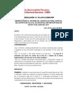 RESOLUCIÓN  N° 014-2014-COEN-PNP