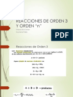 Reacciones de Orden 3 y Orden