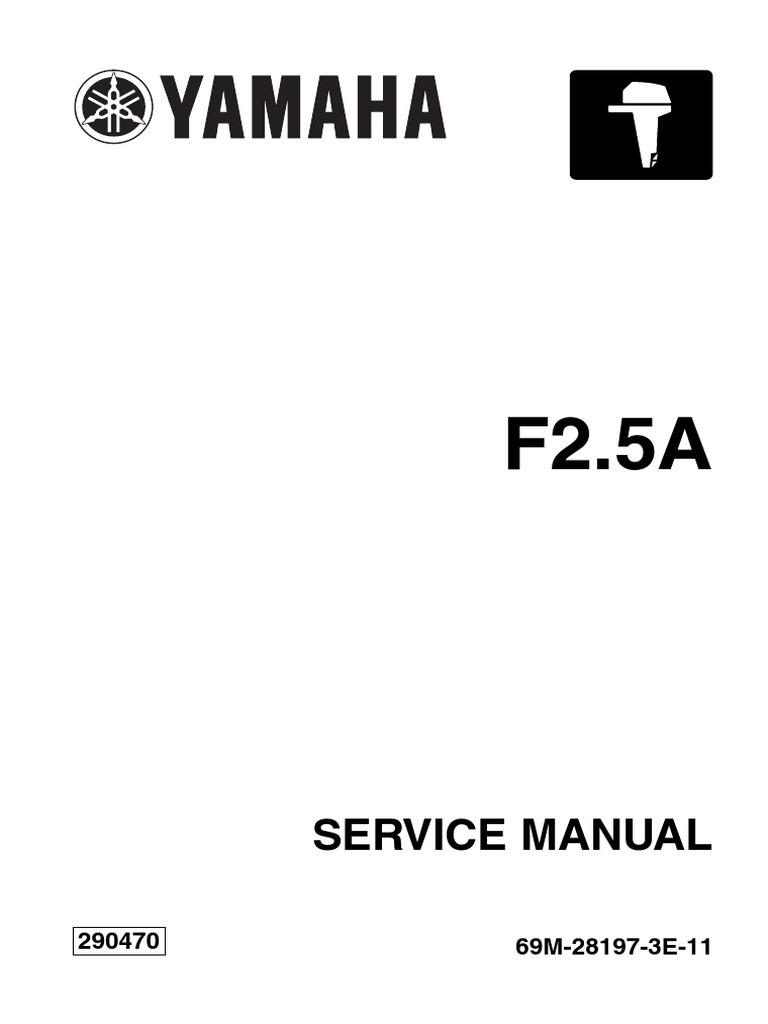 Yamaha 2 5hp | Motor Oil | Screw