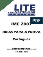 Dicas Para Fazer IME - Português