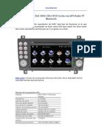 Mercedes-Benz SLK 2004-2012 DVD Coche Con GPS Radio TV Bluetooth