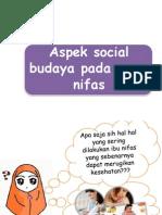 Aspek Social Budaya Pada Masa Nifas