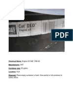 Cat Deo Engine Oil Sae 15w-40