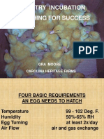 Poultry Incubation