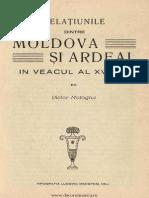 Relaţiunile Dintre Moldova Şi Ardeal În Veacul Al XVI-lea