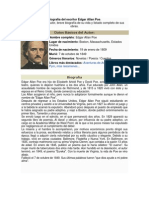 Biografía Del Escritor Edgar Allan Poe