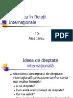 Dreptatea in Relatii Internationale 2011