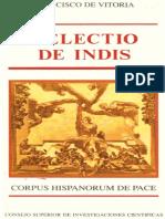 1. Francisco de Vitoria Relectio de Indis