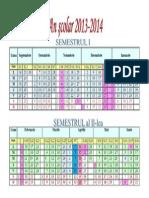 calen scolar 2013