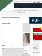 Ceramic Tiles, Terrazzo Tiles and Mosaics Method Statement _ Planning Engineer