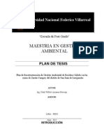 Plan de Tesis - Maestria en Gestion Ambiental Act[1]