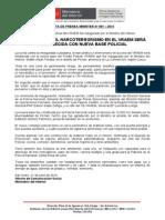 LUCHA CONTRA EL NARCOTERRORISMO EN EL VRAEM SERÁ FORTALECIDA CON NUEVA BASE POLICIAL