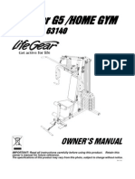 63140-Lifegear G5 Home Gym Manual