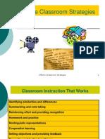 Effective Classroom Strategies