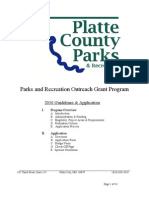 Parks and Recreation Outreach Grant Program