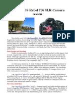 Canon EOS Rebel t3i SLR Camera Review