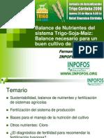 TRIGO Balance de Nutrientes Del Sistema Trigo-Soja-Maíz. Balance Necesario Para Un Buen Cultivo de Trigo Por Fernando O. García Del INPOFOS