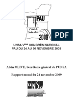 Discours Alain Olive / Congrès National de Pau / 24-11-2009