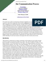 Davis Foulger-communication Process