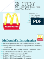 McDonald's swot analysis