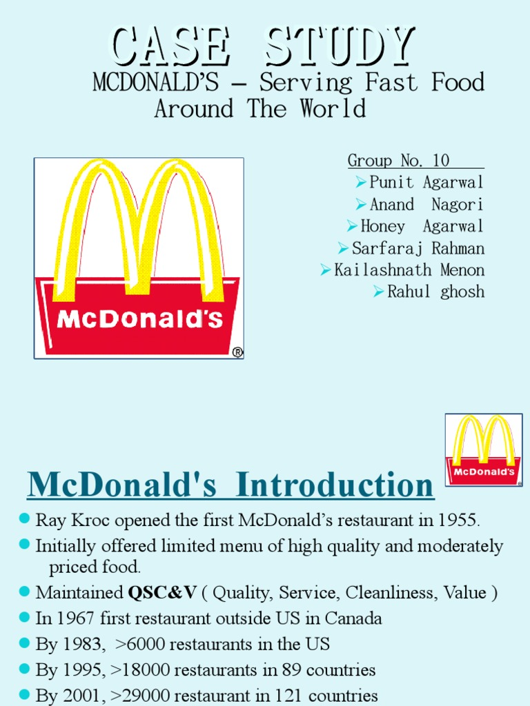 global business strategy of mcdonald Specialisation: international business author: oleg karataev title of thesis:  market entry strategies, an example of mcdonald's entry into the russian market.