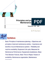 01 Principles and Practices of Maintenance Planning
