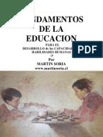 FUNDAMENTOS DE LA EDUCACIÓN para el desarrollo de las capacidades y habilidades humanas3