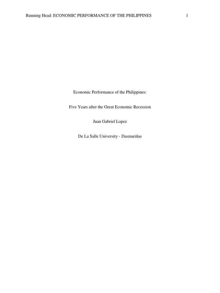 Macroeconomics term paper